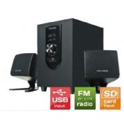 Microlab aktivni drveni 2.1 zvučnici sa pojačalom FM radio SD kartica USB (M-108U)