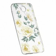 Husa Silicon Transparent Slim Floral 126 Huawei Y6 Pro