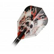 Target Darts VISION 117770 STD RED WINGED SKULL BAGGED