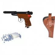 Prijam Air Gun Bsw2-007 Metal Body 300 Pellets Cover Air Gun Combo Offer