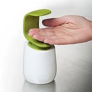 kanha Handed Soap Dispenser 8 Oz Liquid Wash Bottle White Green Shampoo Container