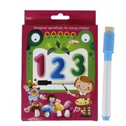 Fusine™ New Creative Educational Aids Preschool Concepts, Number Concepts, Alphabets Concepts( Flash Cards with Pen )( Write & Learn ) (Numbers)