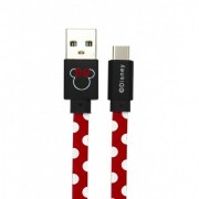 USB kábel Disney - Minnie Type-c adatkábel piros pöttyös