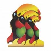 Quebra Cabeça Zoo Filhotes Madeira - Tucano - Colorido - 73711 - Maninho Artesanatos