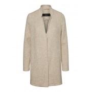 Vero Moda Bluză de damă VMBRUSHEDKATRINE Jacheta BOOS 3/4 Mink Silver MELANGE M