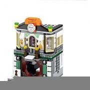 Emob 220 Pcs Classic Cloth Shop Theme 3D Bricks Building Blocks Set Toy for Kids (Multicolor)