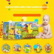 EH Animales De Dibujos Animados De Madera Patrón 9pcs Puzzle Jigsaw Bebé Niño Juguete De Aprendizaje Temprano