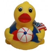 Rubber Duck All American Pledge of Allegiance, Waddlers Brand Patriotic Rubber Ducks That Float Upri