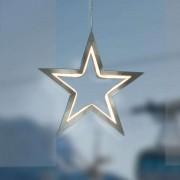LED star Lucy chrome 18 cm