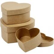 Creativ Pudełko tekturowe serce - zestaw 3 szt - SERC