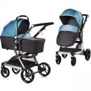 Детска комбинирана количка 2 в 1 Фюжън, Chipolino, океан, 350688