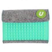 UPixel Bags - Портмоне Upixel 07 - сиво / синьо-зелено