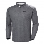 Helly Hansen hombres Hp Shore Long Sleeve Rugger Performance Wicking Gris M