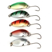ZANLURE 5PCS 3G 30CM Spinner Spoon Fishing Lure Metal Lures Colorful Hard Baits