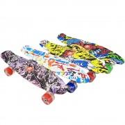 Скейтборд ABS (penny board) 22″ (56 см.) с цветен печат и колела с LED светлина
