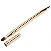 Rrimin Double-headed Retractable Makeup Blush Lip Brush and Eyeshadow Brush