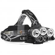 Meco XANES 2309-A 1500 Lumens Bicycle Headlight 6 Switch Modes 3 x XML-T6 + 2 x LTS White Light Adjustable HeadLamp