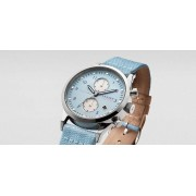 TRIWA Sky Lansen Chrono Watch Light Blue/Tan