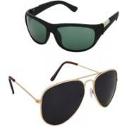Rich Club Aviator, Sports Sunglasses(Green, Black)