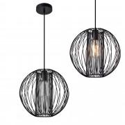 [lux.pro]® Dekoratívní designové závěsné svítidlo / stropní svítidlo - černé (1 x E27) HT169919