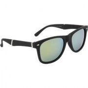 Ochila Gold Mirrored Wayfarer Unisex Sunglasses