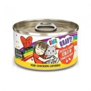 BFF OMG Stir It Up! Chicken & Salmon in Gravy Wet Canned Cat Food, 2.8-oz can, case of 12