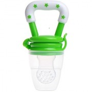 Baby Nipple Feeding Safe Milk Feeder For Baby Pacifier Bottles Nipple Fresh Fruit Food Teat baby Nibbler Feeder ( green)