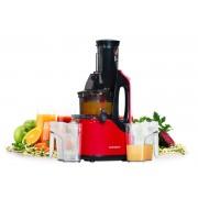 Storcator de fructe si legume cu melc Oursson JM7002/RD, 240 W, 60 RPM, Functie Reverse, Rosu