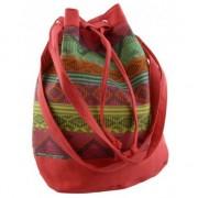 Geen Rode hippie tas voor dames 30 cm