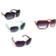 TXW Butterfly, Over-sized Sunglasses(Black, Grey)