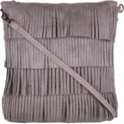 Lino Perros Women Casual Grey Leatherette Sling Bag