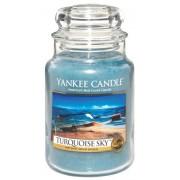 Yankee Candle Large Jar Duża świeczka zapachowa Flowers Turquoise Sky 623g