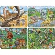 Set 4 Puzzle-uri Animale Exotice 11 piese Larsen LRZ8 B39016805