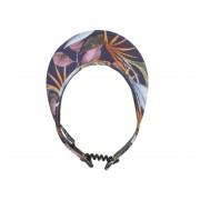 Seeberger Visor mit Gummizug aus sommerlich gemustertem Stoff, Marine-Multicolor (6834) One Size