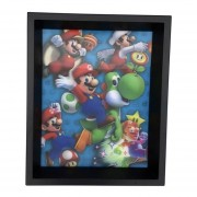 Cuadro Lenticular Super Mario Power Up Nintendo 3d Decorativo