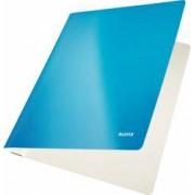 Dosar carton LEITZ Wow cu sina capacitate 250 coli - albastru metalizat