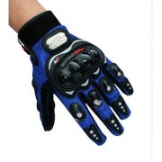 Probiker Motorcycle Bike Racing Riding Gloves Glove Blue Colour Pro-biker-LARGE