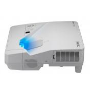 NEC UM301W - Projector LCD - 3000 lumens ANSI - WXGA (1280 x 800) - 16:10 - 720p - lente de distância ultra-curta - LAN