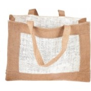 PRAHAN INTERNATIONAL Carry Bag Natural Juit Hand Carry Bag with two Handle Strap PS2009A(Natural Jute)
