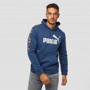 PUMA Amplified fleece trui blauw heren Heren - donker blauw - Size: Medium