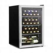 Klarstein FALCON CREST, frigider pentru băuturi, ușă din sticlă, 4-18 ° C, 128 L, 42 db, oțel (HEA3-Falcon-Crest)