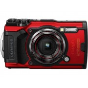 Olympus Tough TG-6 Digitale camera 12 Mpix Zoom optisch: 4 x Rood GPS, Schokbestendig, Waterdicht tot 15 m, Vorstbestendig, Stofdicht, WiFi, Onderwatercamera,