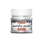 Pentart Metál ezüst színű akril bázisú hobbi festék 50 ml