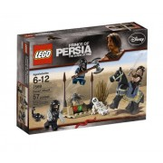 Prince of Persia LEGO Disney Movie Series Prince of Persia - The Sands of Time Scene Set #7569 - Desert Attack With Horse Snake and Skeleton Plus Dastan With 2 Swords and 2 Hassansins With Battle Axe and 2 Claws (Total Pieces: 57)