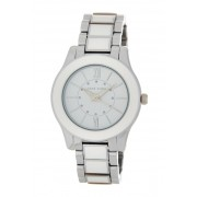 AK Anne Klein Womens White Glossy Bracelet Watch NO COLOR