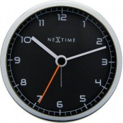 NeXtime Budzik Company czarna tarcza