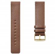 Lucleon Hellbraunes Leder Uhrenarmband Mit Goldfarbener Schließe