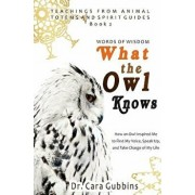 Words of Wisdom: What the Owl Knows: How an Owl Inspired Me to Find My Voice, Speak Up, and Take Charge of My Life, Paperback/Dr Cara Gubbins