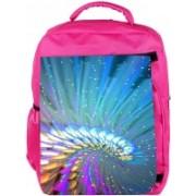 Snoogg Eco Friendly Canvas Abstract Design Designer Backpack Rucksack School Travel Unisex Casual Canvas Bag Bookbag Satchel 5 L Backpack(Pink)