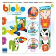 Set de construit BLOKO Tepi 52 piese cu doua figurine vacuta si fermier